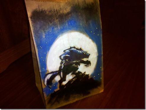 Arte criativa em sacos de papel