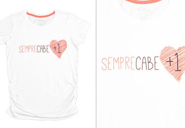 24ba6253ce Coração de mãe Sempre cabe mais um! T-shirt da loja Agora Sou Mãe