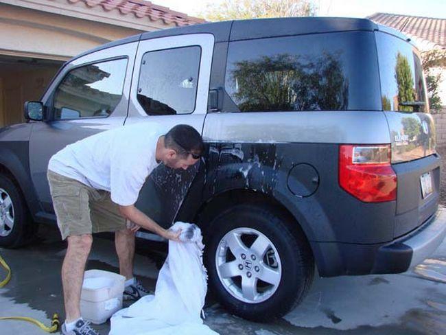 Uma excelente forma de limpar o carro