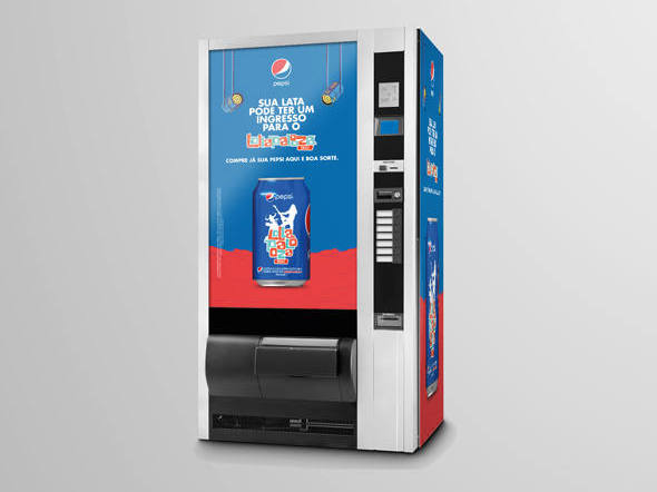 Pepsi esconde ingressos do Lollapalooza em maquinas de refrigerantes