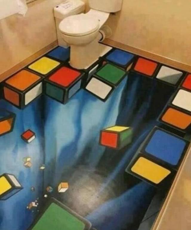 Piso de banheiro Tetris