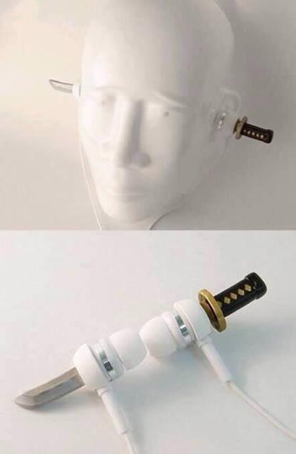 Fone de ouvido faca