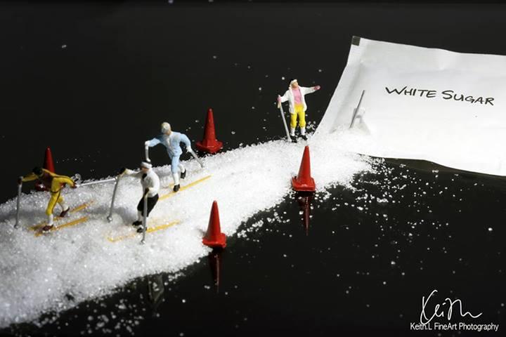 Pista de gelo improvisada