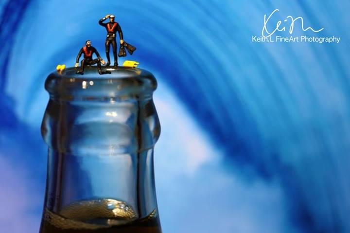 Os mergulhadores de Coca-cola