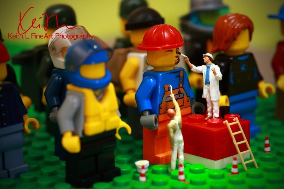 Os pintores de lego