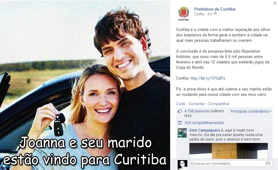 Prefeitura de Curitiba aproveita meme