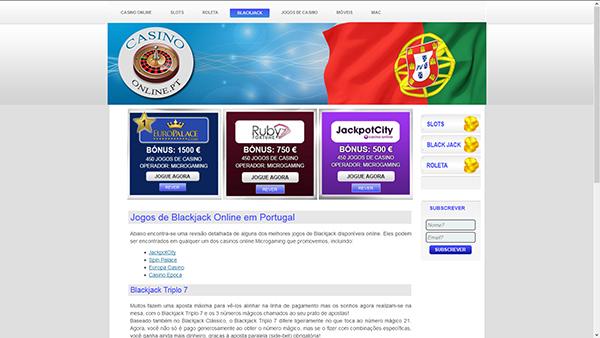 Jogos de Blackjack Online em Portugal