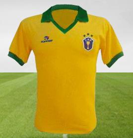 Evolução das camisas do Brasil