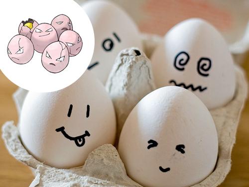Exeggcute Inspiração: ...Ovos