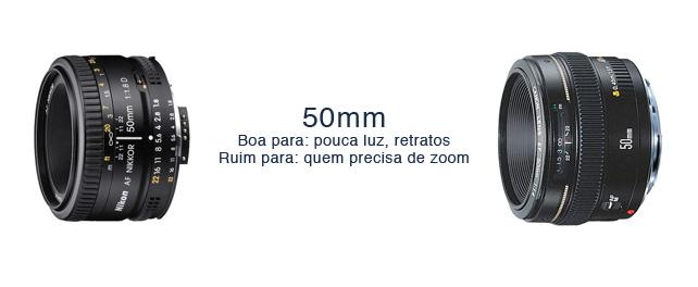 LENTE BARATA E CLARA:  A 50mm é uma ótima lente e podem ter aberturas variadas como 1.8 à 1.2.