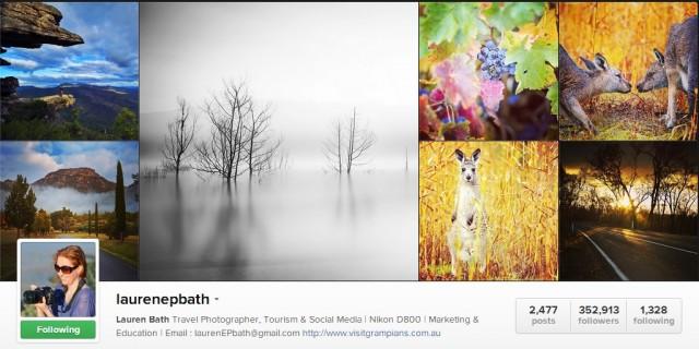 Perfil no Instagram, onde há mais de 358 mil seguidores