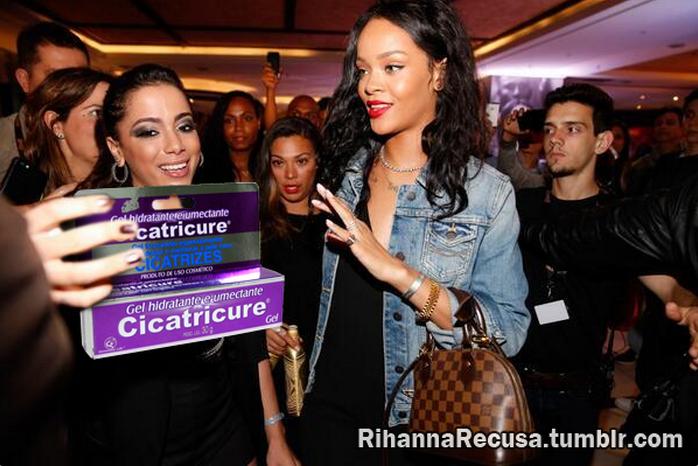 Rihanna recusa Cicatricure