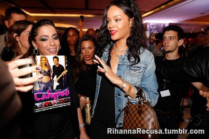 Rihanna recusa DVD da Banda Calypso