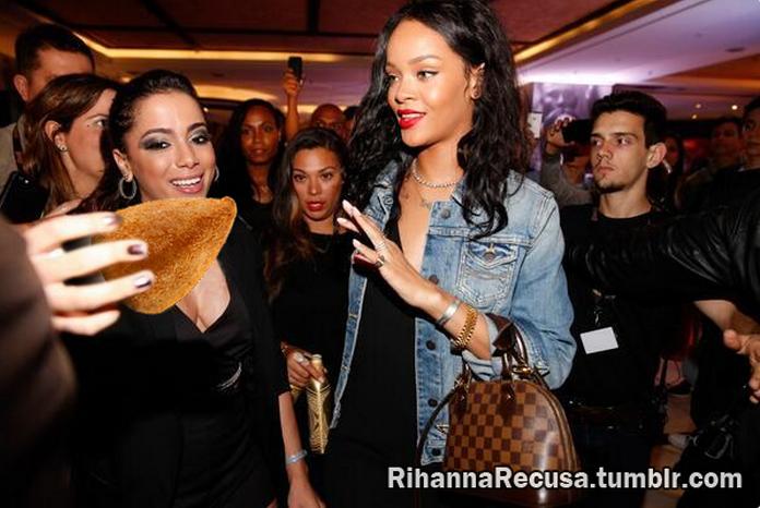 Rihanna recusa coxinha
