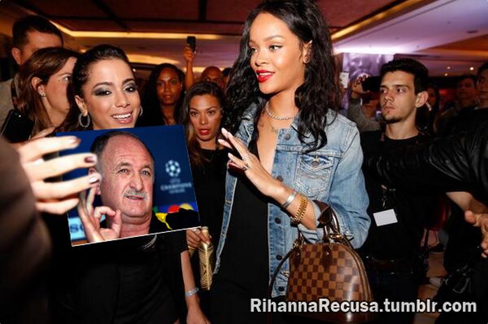 Rihanna recusa foto de Felipe Scolari