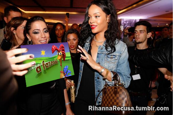 Rihanna recusa ir para A Fazenda