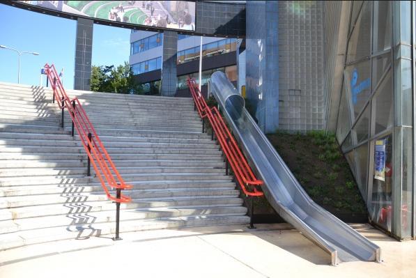 Escada Criativa no Estádio