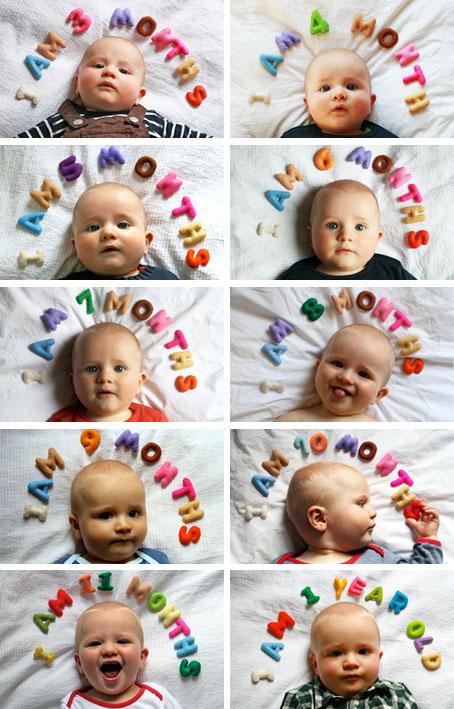 Ideias criativas de registrar o crescimento do seu bebezinho