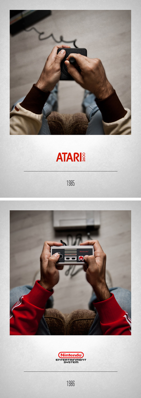 Atari 1985 – Nintendo 1986