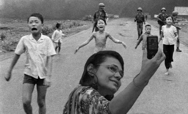Selfie na Guerra em Vietnã