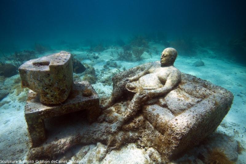 MUSA (Museo Subacuático de Arte), é o maior museu de arte subaquático do mundo.