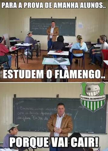 Estudem o Flamengo porque vai cair