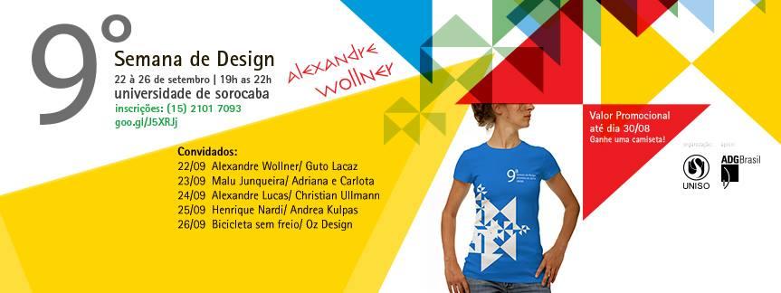 Nos dias 22 a 26 de setembro, a 9ª Semana de Design receberá palestrantes como Alexendre Wollner, pioneiro na formação do design no Brasil e que dá nome a esta edição do evento.