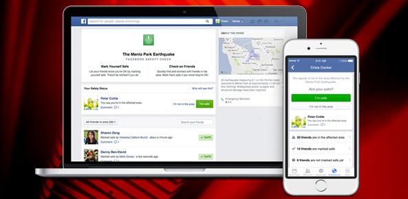 Facebook cria alerta de desastres Safety Check