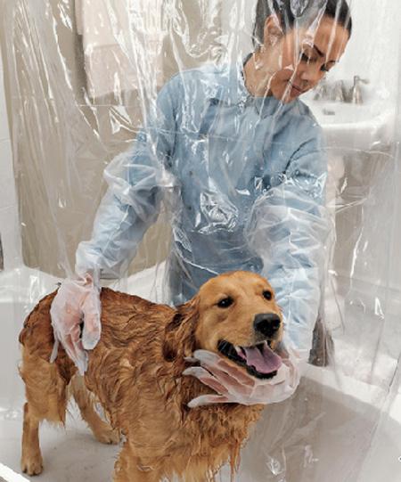 Cortina protetora para banho