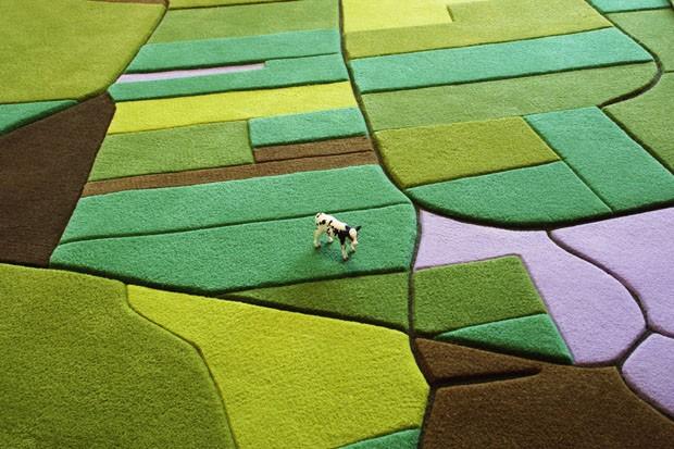 Tapete reproduz uma paisagem de Itália