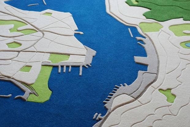Tapete reproduz uma paisagem de Hong Kong