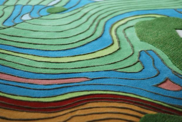 Tapete reproduz uma paisagem de China