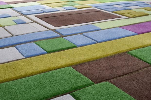 Tapete reproduz uma paisagem de Holanda