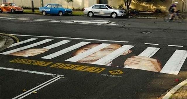 Faixas de Pedestres Criativas