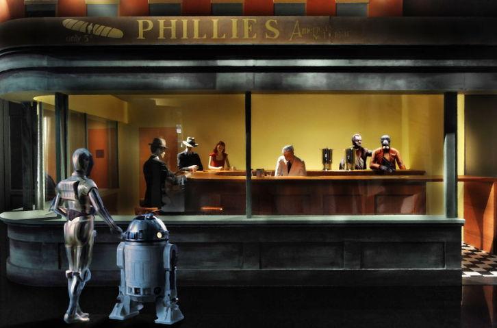 Star Wars em pinturas clássicas por David Hamilton