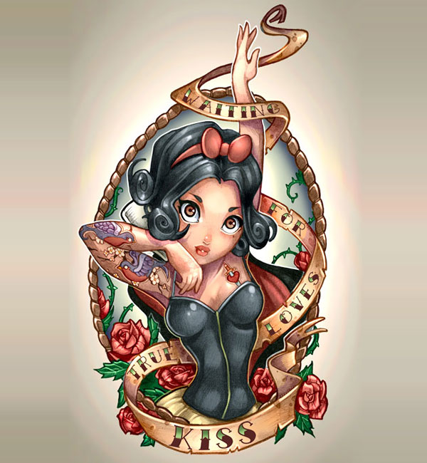 Princesas da Disney Tatuadas