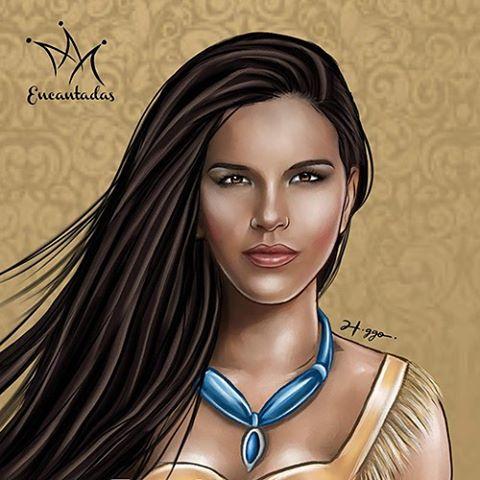Mariana Rios como Pocahontas