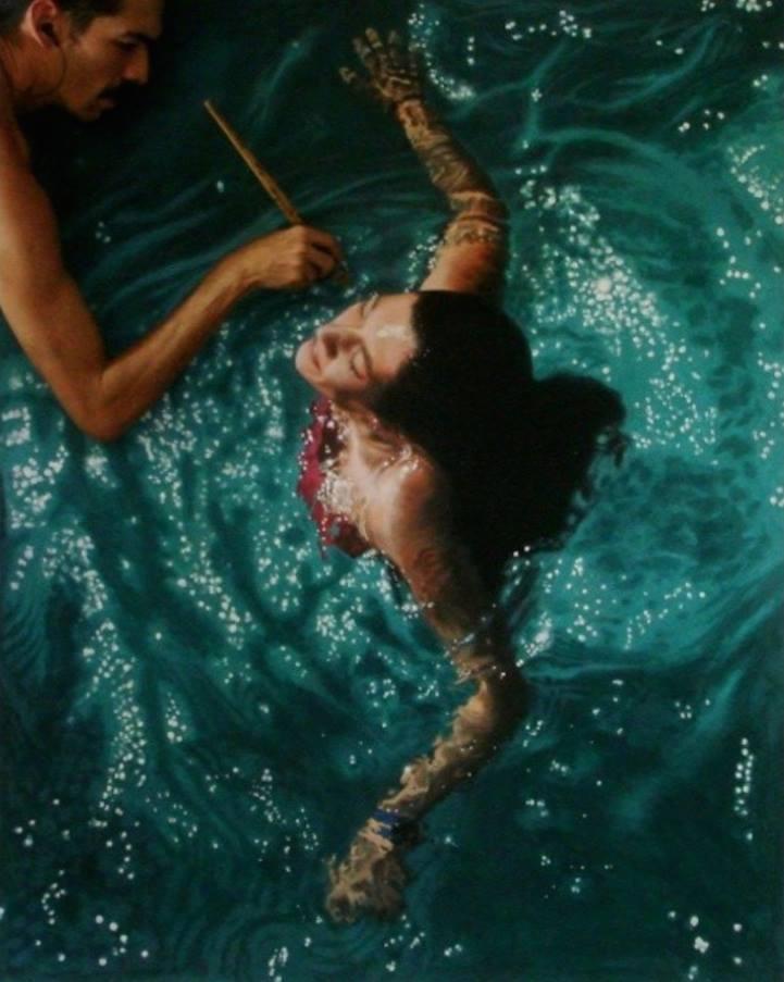 Pinturas aquáticas incríveis por Gustavo Silva Nuñez